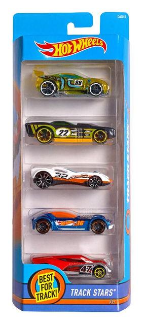Coleção de carros Hot Wheels B3601/1806 Cartela com 5 carros