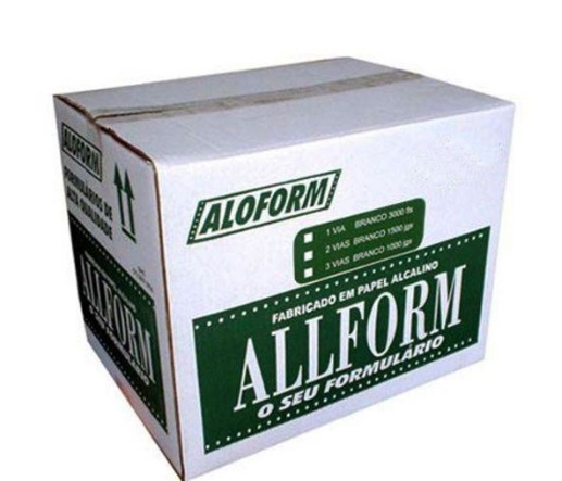 Formulário contínuo pagamento 2 via verde 412 All Form caixa 2000 unid.