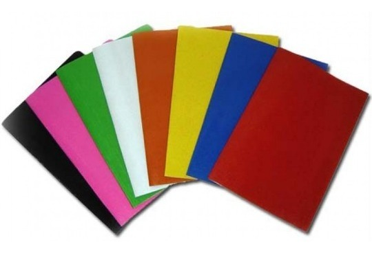 Papel cartão cores unid.