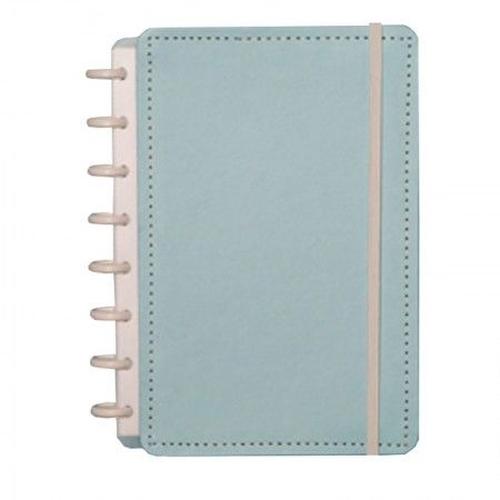 Caderno Inteligente A5 capa dura universitário 60 folhas Azul pastel Ambras