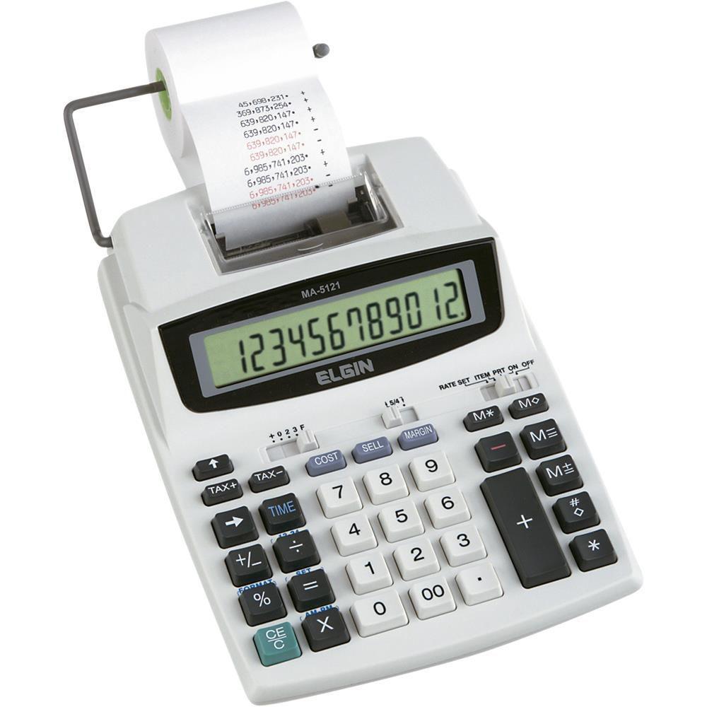 CALCULADORA DE MESA ELETR. MA 5121 12 DIG ELGIN