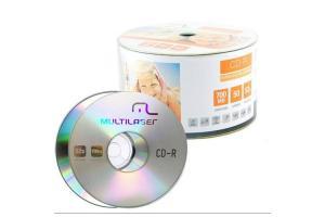 CD ROM Gravável 700MB 52x Shrink Multilaser unid.