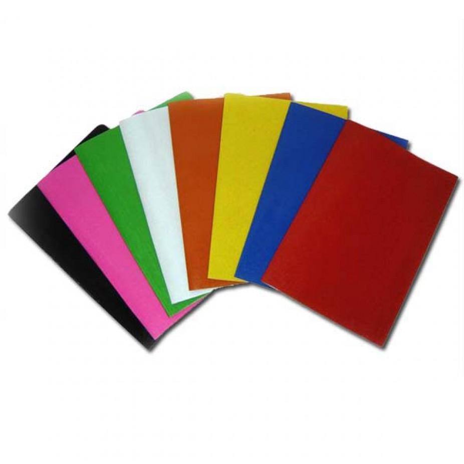 Papel cartão brilho cores sortidas unid.