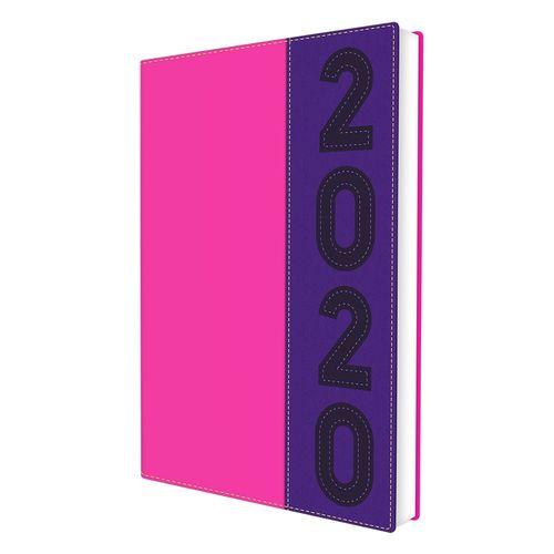 Agenda executiva 2020 com 336 páginas 2890 roxo/rosa Neon DAC unid.
