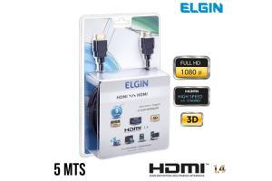 CABO HDMI X HDMI 5 MTS FULL HD 3D 4K ELGIN