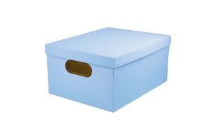 Caixa organizadora média linho serena azul pastel 2192.BP.0005 Dello unid.
