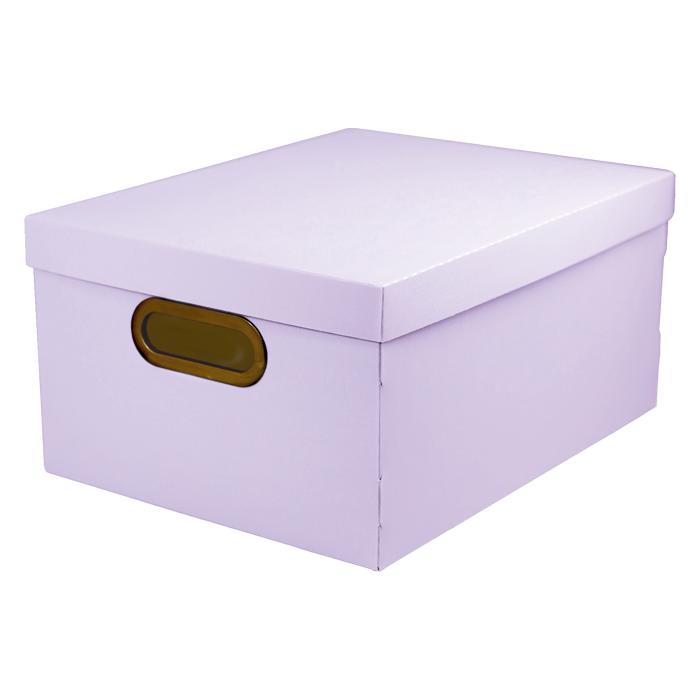 Caixa organizadora média linho serena lilás pastel Dello 2192.LP