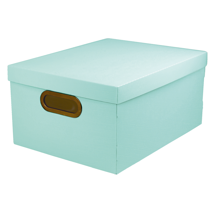 Caixa organizadora média linho serena verde pastel Dello 2192.VP unid.