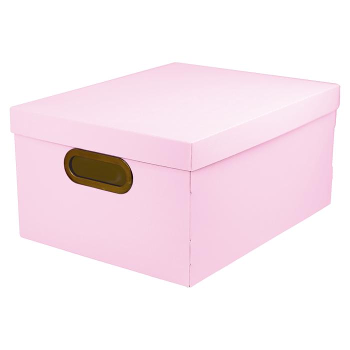 Caixa organizadora média linho serena rosa pastel Dello 2192.WP unid.