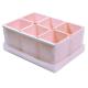 Caixa organizadora de objetos com 06 compartimentos rosa Dello 2193.W.0004  unid.