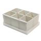Caixa organizadora de objetos com 06 compartimentos cinza Dello 2193.G unid.