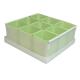 Caixa organizadora de objeto com 09 compartimentos verde Dello 2194.T unid.