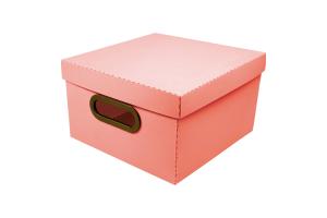 Caixa organizadora pequena linho coral 2204.CL unid.