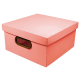 Caixa organizadora média linho coral Dello 2205.CL unid.