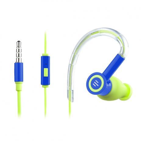 Fone de ouvido Earhook Pulse azul/verde PH223 Multilaser unid.