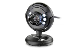 Web Cam 16MP com microfone USB Night Vision Multilaser WC045 unid.