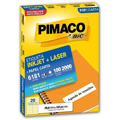 Etiqueta Inkjet e Laser 6181 Pimaco pacote 100 folhas unid.