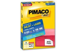 Etiqueta Inkjet e Laser 6184 com Pimaco pacote 100 folhas