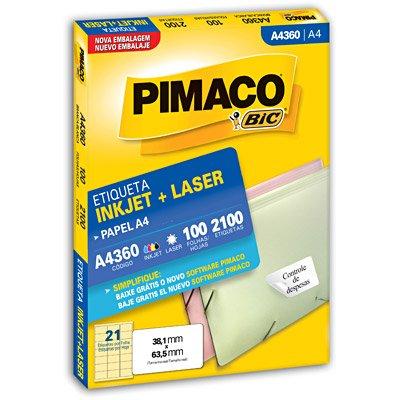 Etiqueta Inkjet e Laser A4 360 Pimaco pacote 100 folhas
