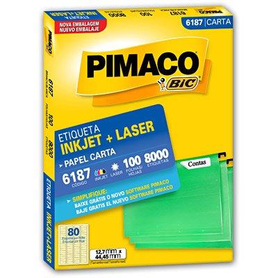 Etiqueta Inkjet e Laser 6187 Pimaco pacote 100 folhas