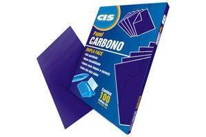 Carbono dupla face comum violeta CIS pacote com 100 folhas