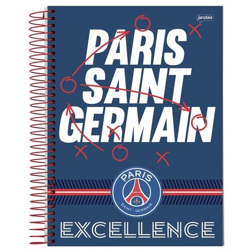 Caderno capa dura universitário 96 folhas Paris Saint Germain Jandaia unid.