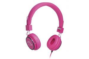Fone de ouvido com microfone HeadFun rosa Multilaser PH088 unid.