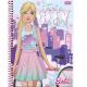 Caderno capa dura universitário 96 folhas Barbie 8230 Foroni unid.