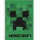 Caderno capa dura universitário 96 folhas Minecraft 6080 Foroni unid.