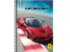Caderno capa dura universitário 96 folhas Ferrari 8730 Foroni unid.