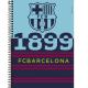 Caderno capa dura universitário 96 folhas Barcelona 9140 Foroni unid.