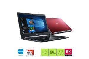 Notebook Acer 2.7Ghz 8GBRAM 1TBHD AMD Radeon RX 540 de 2GB 15.6