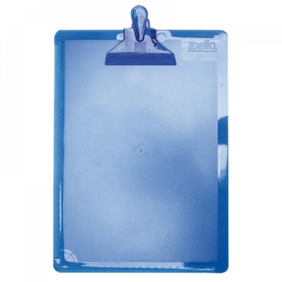 Prancheta plástica azul claro Dello 3006.B unid.