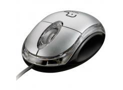 Mouse 3 botões 800 DPI USB prata M0180 Multilaser unid.