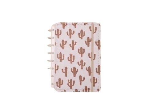 Caderno Inteligente A5 capa dura universitário 60 folhas Cactos Ambras