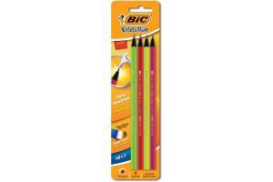 Lápis peto N2 HB Evolution Hexagonal Neon BIC cartela com 4 unid.