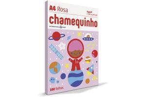 Papel sulfite 75g A4 210x297mm Chamequinho Colors rosa pct. 100 folhas unid.