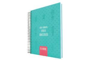 Caderno anotações Agenda 96 folhas Planner Permanente 3011 Cactus verde DAC unid.