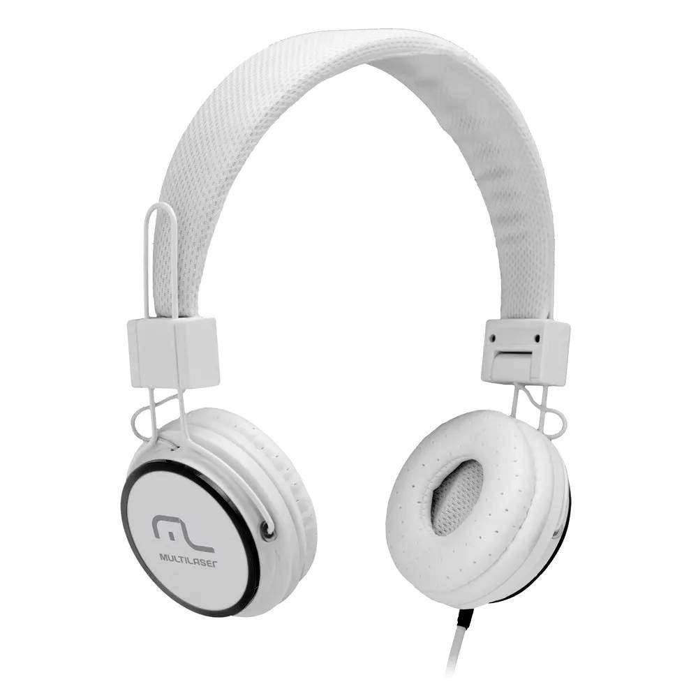 Fone de ouvido com microfone HeadFun branco Multilaser PH087 unid.