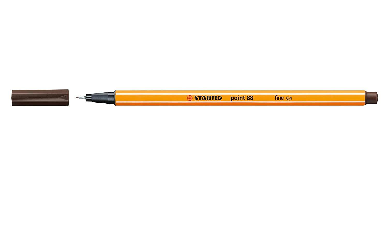 Caneta Point Stabilo 0.4 Fine marrom umber Stabilo 88/65 unid.