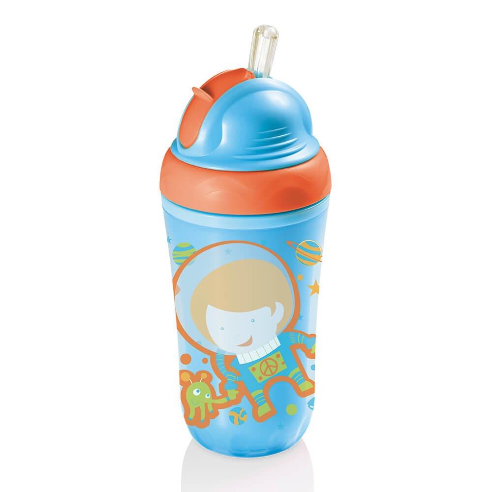 Copo térmico com canudo silicone Cool azul MultiKids Baby BB034 unid.