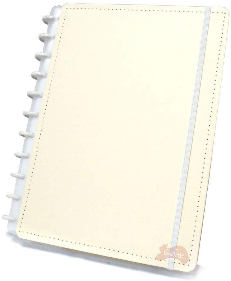 Caderno Inteligente Grande capa dura universitário 60 folhas Amarelo Pastel Ambras unid.