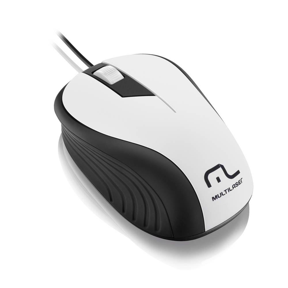 Mouse Wave 1200DPI 3 botões branco/preto Multilaser MO224 unid.