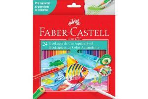 Lápis de cor GDE com 24 cores Aquarela 120224G Faber unid.