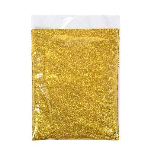 Glitter PVC puro 312 Ouro GR Química pacote 500g
