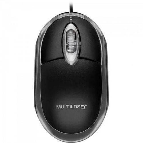 Mouse Classic 800 DPI 3 botões Óptico USB preto Multilaser MO007 unid.