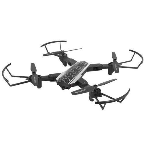 Drone Shark Wi-fi Câmera HD preto e cinza ES177 Multilaser unid.