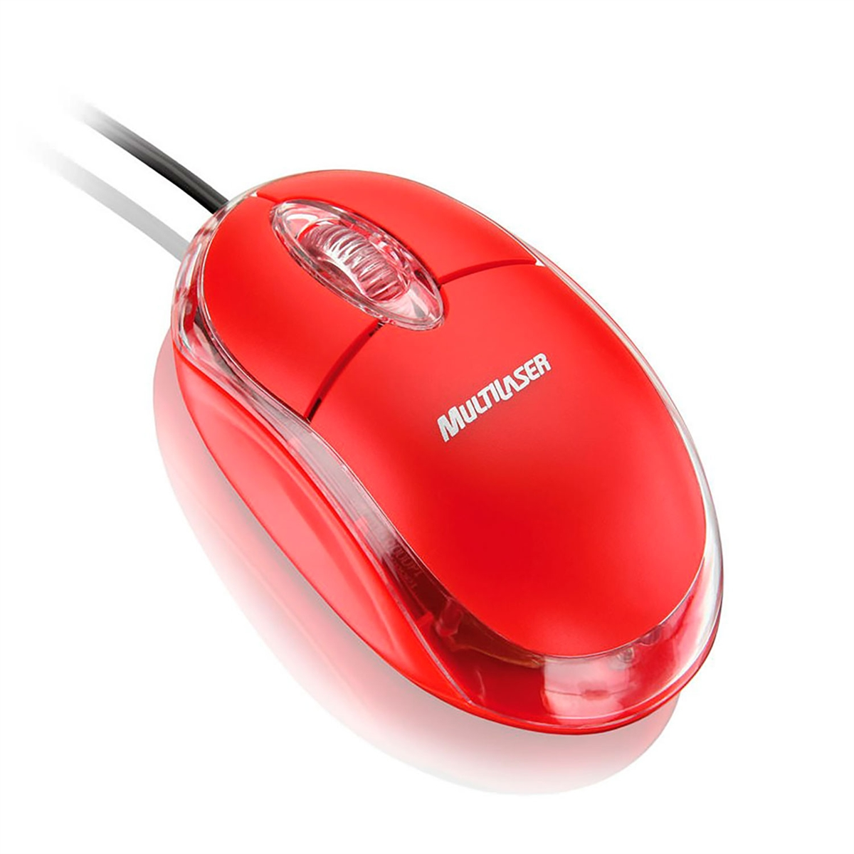Mouse 3 botões 800 DPI USB vermelho Multilaser MO003 unid.