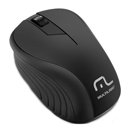 Mouse sem fio 1200 DPI 3 botões preto Multilaser MO212 unid.