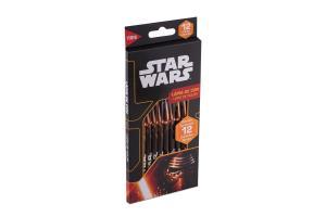 Lápis de cor com 12 cores Star Wars 685267 Tris Summit